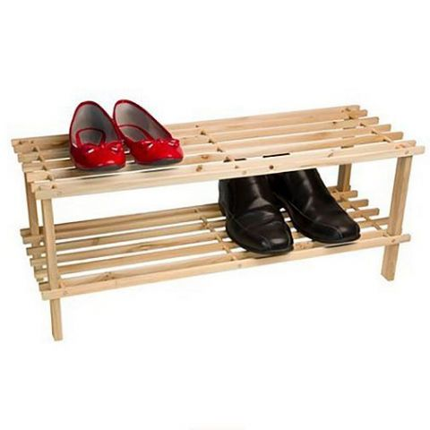 Wooden 2 Tier Shoe Storage Rack